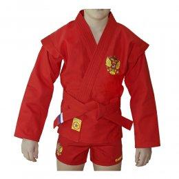 Куртка для самбо (самбовка) детская Крепыш лицензия ВФС (красный)