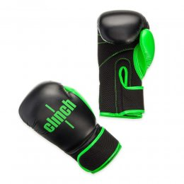 Перчатки боксёрские Clinch Aero PU (чёрный/зелёный)