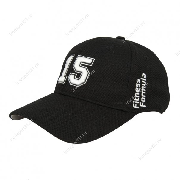 Бейсболка Fitness Formula чёрная с белой цифрой