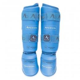 Защита голени и стопы Arawaza WKF Approved 2015 (синий)