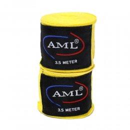 Боксерские бинты AML эластик (жёлтый)