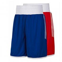 Шорты боксёрские Adidas Reversible (красный/синий)