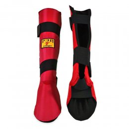 Защита голени и стопы Рэй-спорт Инстеп-1 (красный)