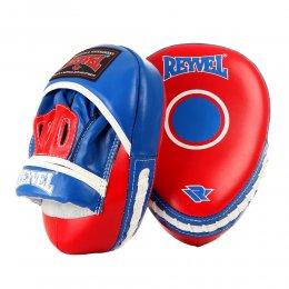 Лапы боксёрские вогнутые Reyvel, PU с застёжкой