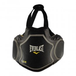 Защитный жилет тренера Everlast Coach`s Vest кожа (чёрный)