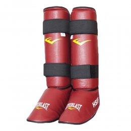 Защита голени и стопы Everlast HSIF PU (красный)