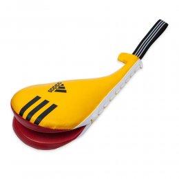 Ракетка детская двойная Adidas PU (жёлтый/красный)