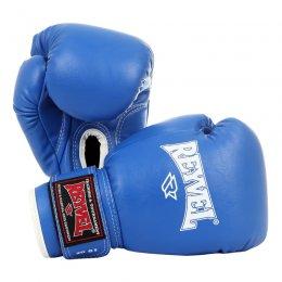 Перчатки боксёрские Reyvel, PU (синий)