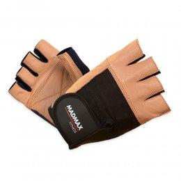 Перчатки Mad Max Fitness (бежевый/чёрный)