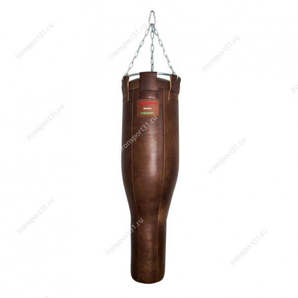 Боксёрский мешок переменного сечения TotalBox Гильза кожа (коричневый)