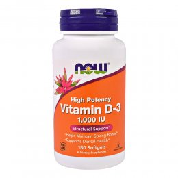 Vitamin  D-3 1,000 Ме 180 капс