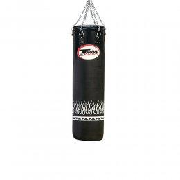 Боксёрский мешок Twins кожа (чёрный с декорацией)