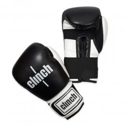 Перчатки боксёрские Clinch Punch PU (чёрный/белый)