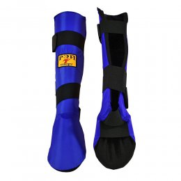 Защита голени и стопы Рэй-спорт Инстеп-1 (синий)