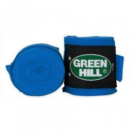 Боксерские бинты Green Hill х/б (синий)