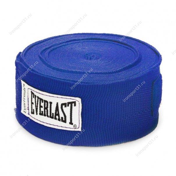 Боксерские бинты Everlast эластик (синий)